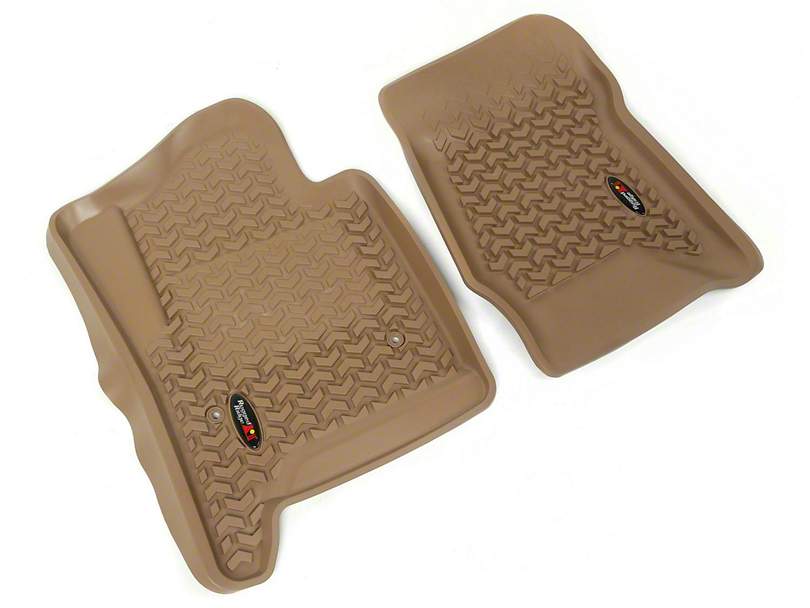 Rugged Ridge All-Terrain Front Floor Mats - Tan (14-18 Sierra 1500)
