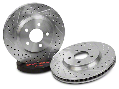 Baer Sport Drilled & Slotted Rotors - Rear Pair (07-18 Sierra 1500)