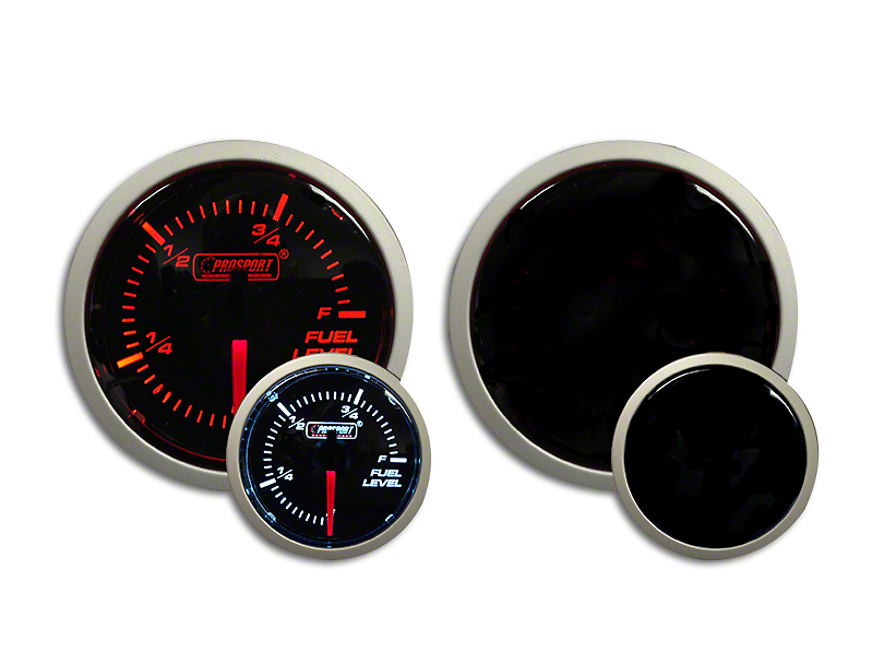 Prosport Dual Color Fuel Level Gauge - Electrical - Amber/White (07-19 Sierra 1500)