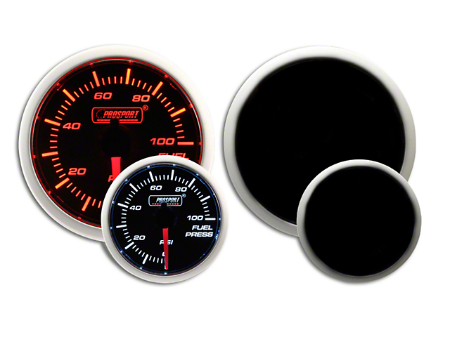 Prosport Dual Color Fuel Pressure Gauge - Electrical - Amber/White (07-19 Sierra 1500)