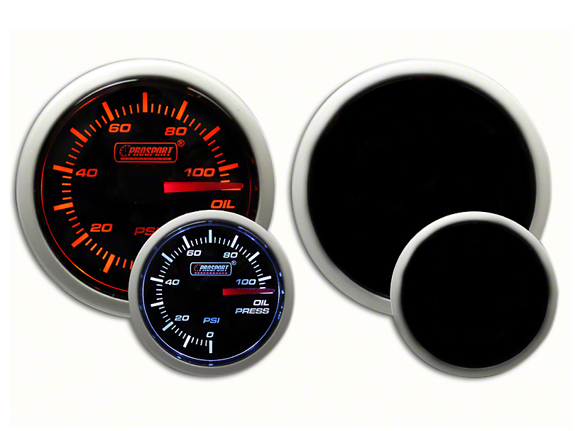 Prosport Dual Color Oil Pressure Gauge - Electrical Amber/White (07-19 Sierra 1500)