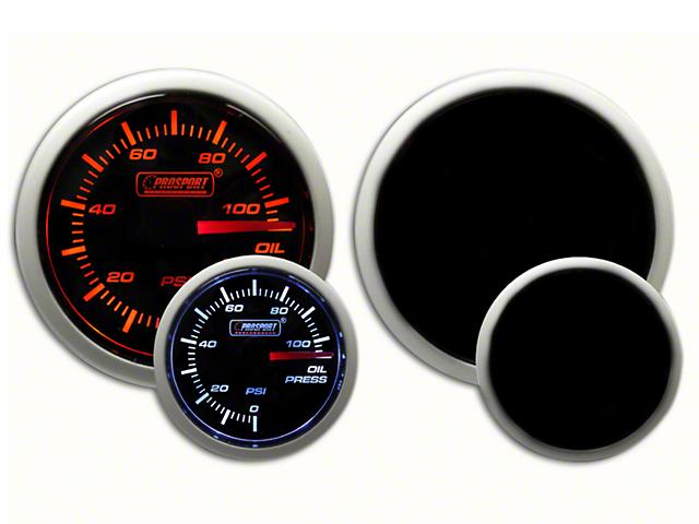Prosport Dual Color Oil Pressure Gauge - Electrical Amber/White (07-19 Sierra 1500)