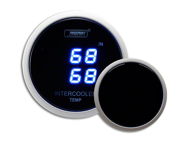 Prosport Dual Intercooler Digital Display Air Temperature Gauge - Blue (07-18 Sierra 1500)