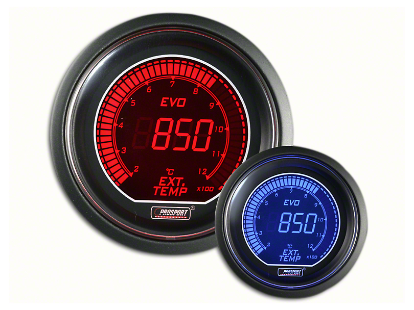 Prosport Dual Color Evo Exhaust Gas Temperature Gauge - Electrical - Red/Blue (07-19 Sierra 1500)