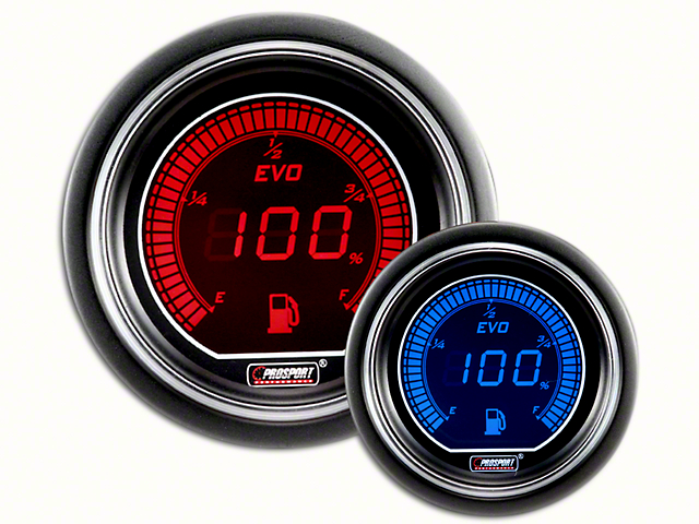 Prosport Dual Color Evo Fuel Level Gauge - Electrical - Red/Blue (07-19 Sierra 1500)
