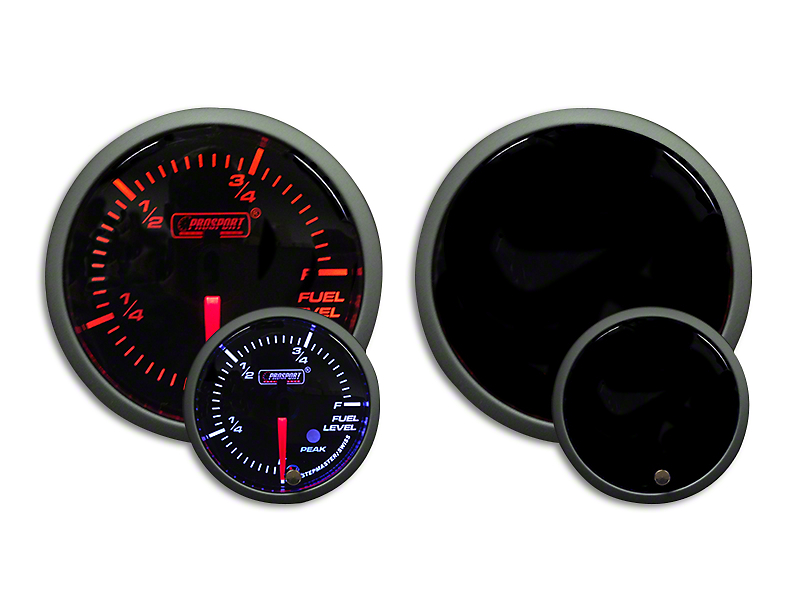 Prosport Dual Color Premium Fuel Level Gauge - Amber/White (07-19 Sierra 1500)