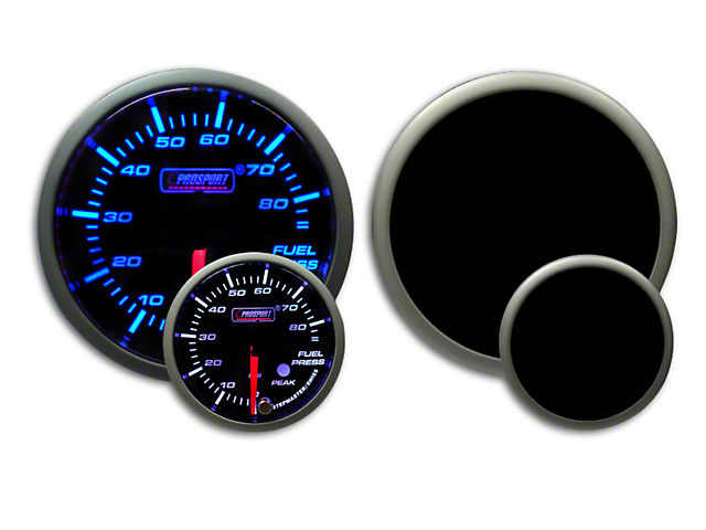 Prosport Dual Color Premium Fuel Pressure Gauge - Blue/White (07-19 Sierra 1500)