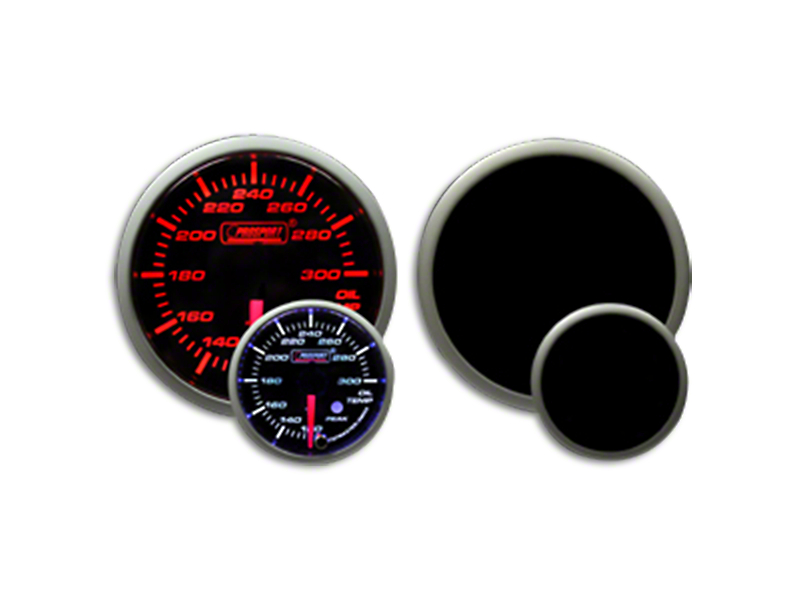 Prosport Dual Color Premium Oil Temperature Gauge - Amber/White (07-19 Sierra 1500)