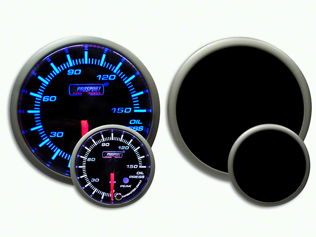 Prosport Dual Color Premium 0-150 PSI Oil Pressure Gauge - Blue/White (07-19 Sierra 1500)