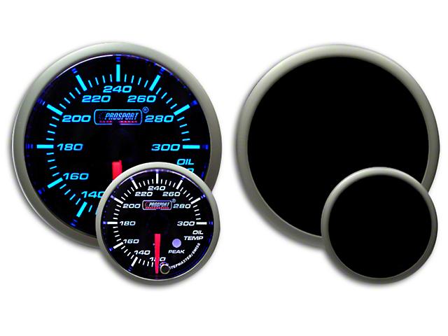 Prosport Dual Color Premium Oil Temperature Gauge - Blue/White (07-19 Sierra 1500)