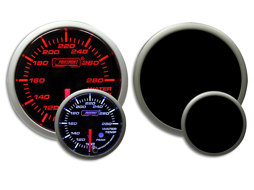 Prosport Dual Color Premium Water Temperature Gauge - Amber/White (07-19 Sierra 1500)