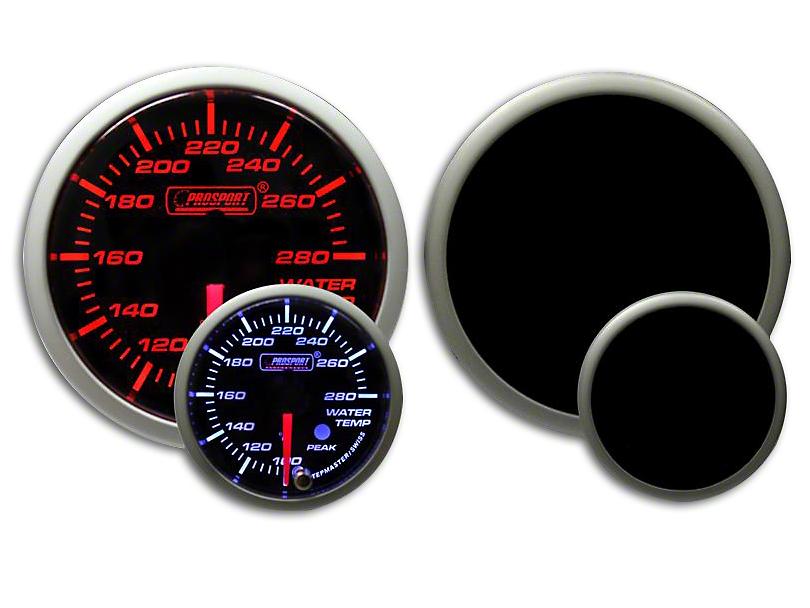 Prosport Dual Color Premium Water Temperature Gauge - Amber/White (07-19 Sierra 1500)