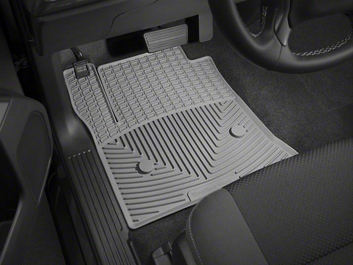 Weathertech All Weather Front Rubber Floor Mats - Gray (14-18 Sierra 1500)
