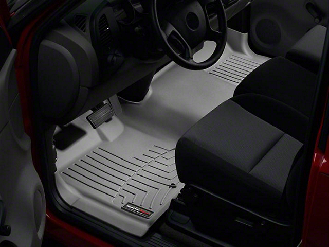 Weathertech DigitalFit Front Over the Hump Floor Liner - Gray (07-13 Sierra 1500)
