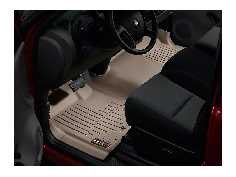 Weathertech DigitalFit Front Over the Hump Floor Liner - Tan (07-13 Sierra 1500)