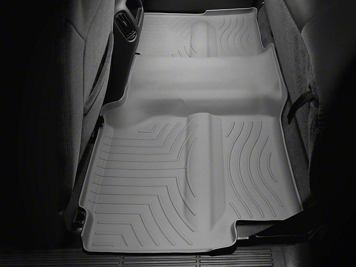 Weathertech DigitalFit Rear Floor Liner w/ Underseat Coverage - Gray (14-18 Sierra 1500 Crew Cab)