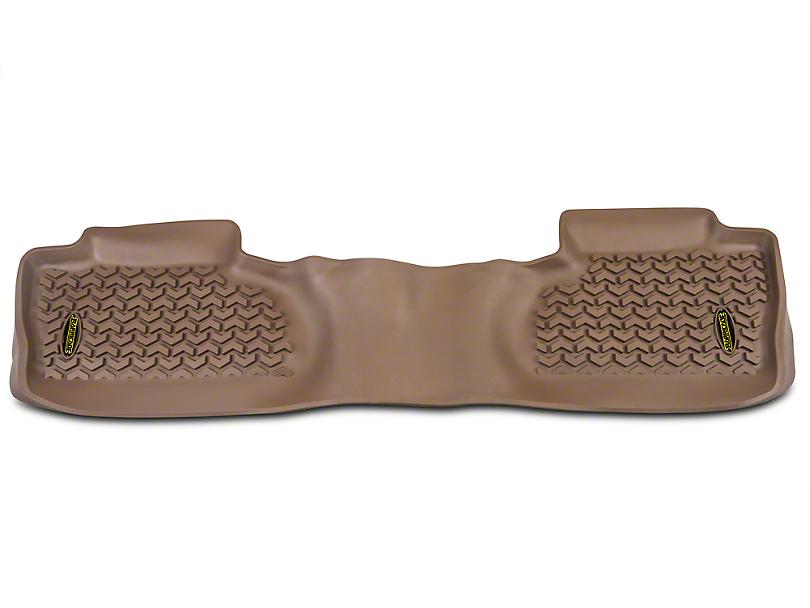 Barricade Rear Floor Mat - Tan (14-18 Sierra 1500 Double Cab, Crew Cab)