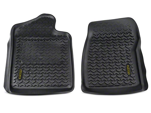Barricade Front Floor Mats - Black (07-13 Sierra 1500 Regular Cab)