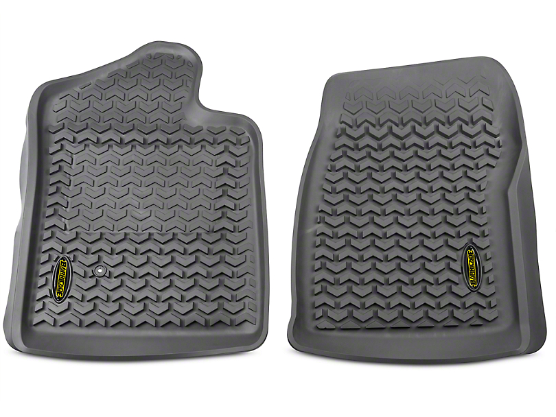 Barricade Front Floor Mats - Gray (07-13 Sierra 1500 Regular Cab)