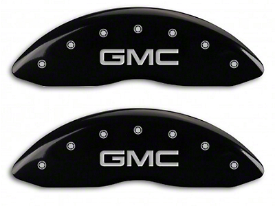 MGP Black Caliper Covers w/ GMC Logo - Front & Rear (07-13 Sierra 1500)