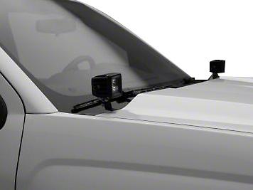 ZRoadz Two 3 in. LED Light Cubes Hood Hinge Mounting Brackets (07-13 Sierra 1500)