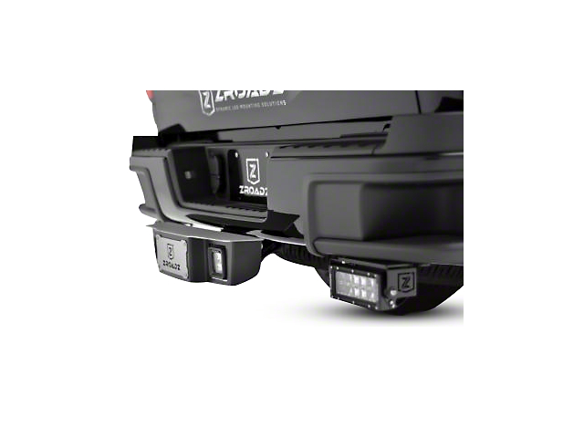 ZRoadz 2-Inch Receiver Hitch Step with 3-Inch LED Cube Lights (Universal Fitment)