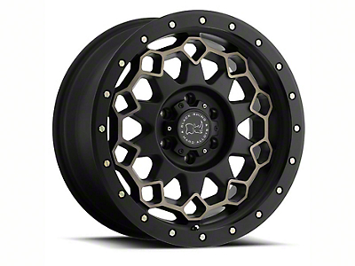Black Rhino Diamante Matte Black Machined 6-Lug Wheel - 17x9 (07-18 Sierra 1500)