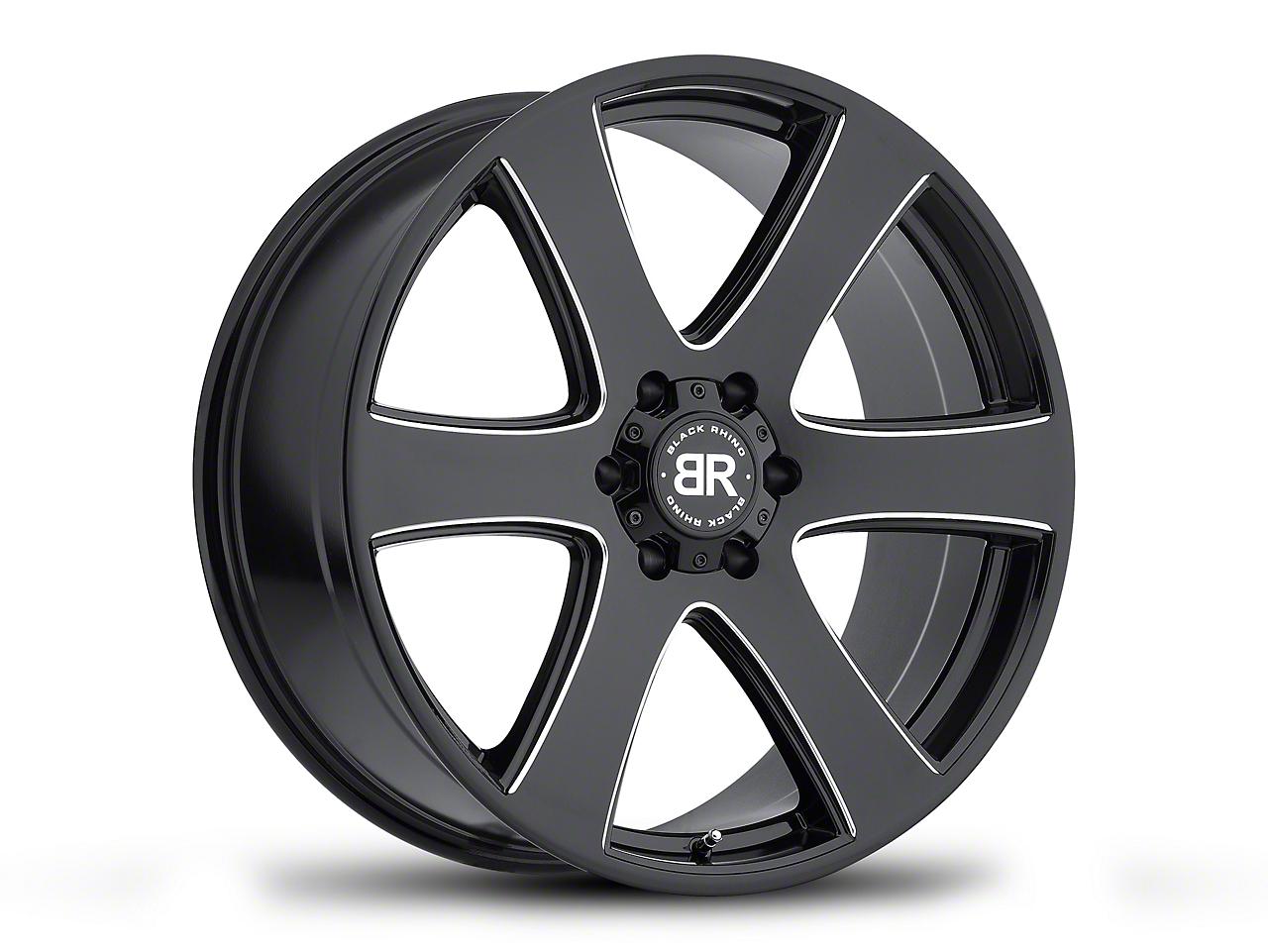 Black Rhino Haka Gloss Black Milled 6-Lug Wheel - 22x9.5 (07-18 Sierra 1500)