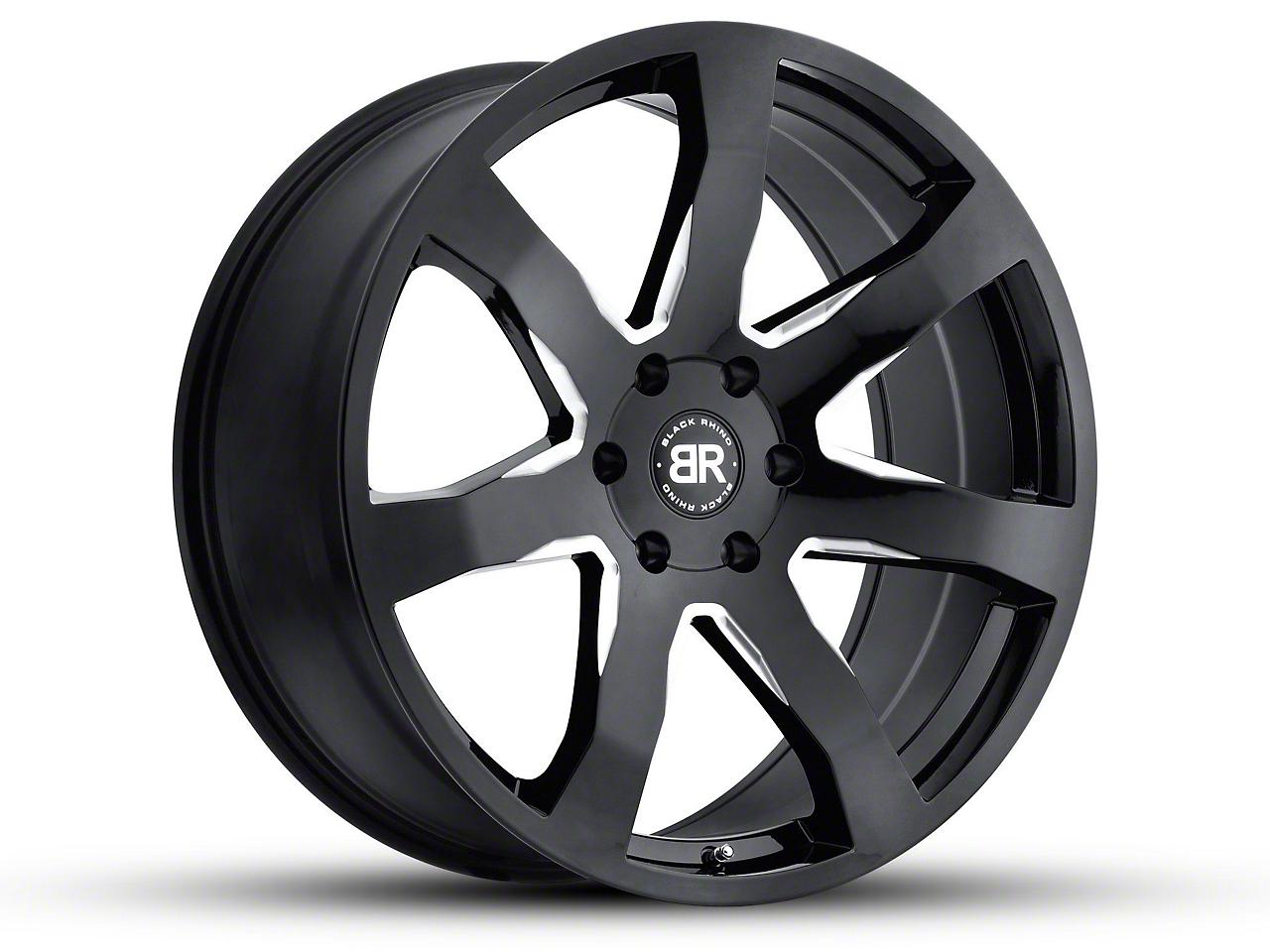 Black Rhino Mozambique Gloss Black Milled 6-Lug Wheel - 18x8.5 (07-18 Sierra 1500)