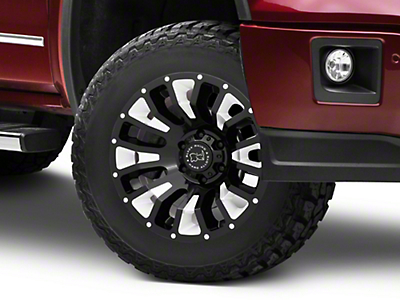Black Rhino Pinatubo Gloss Black Milled 6-Lug Wheel - 18x9.5 (07-18 Sierra 1500)