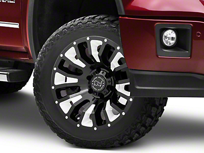 Black Rhino Pinatubo Gloss Black Milled 6-Lug Wheel - 20x12 (07-18 Sierra 1500)