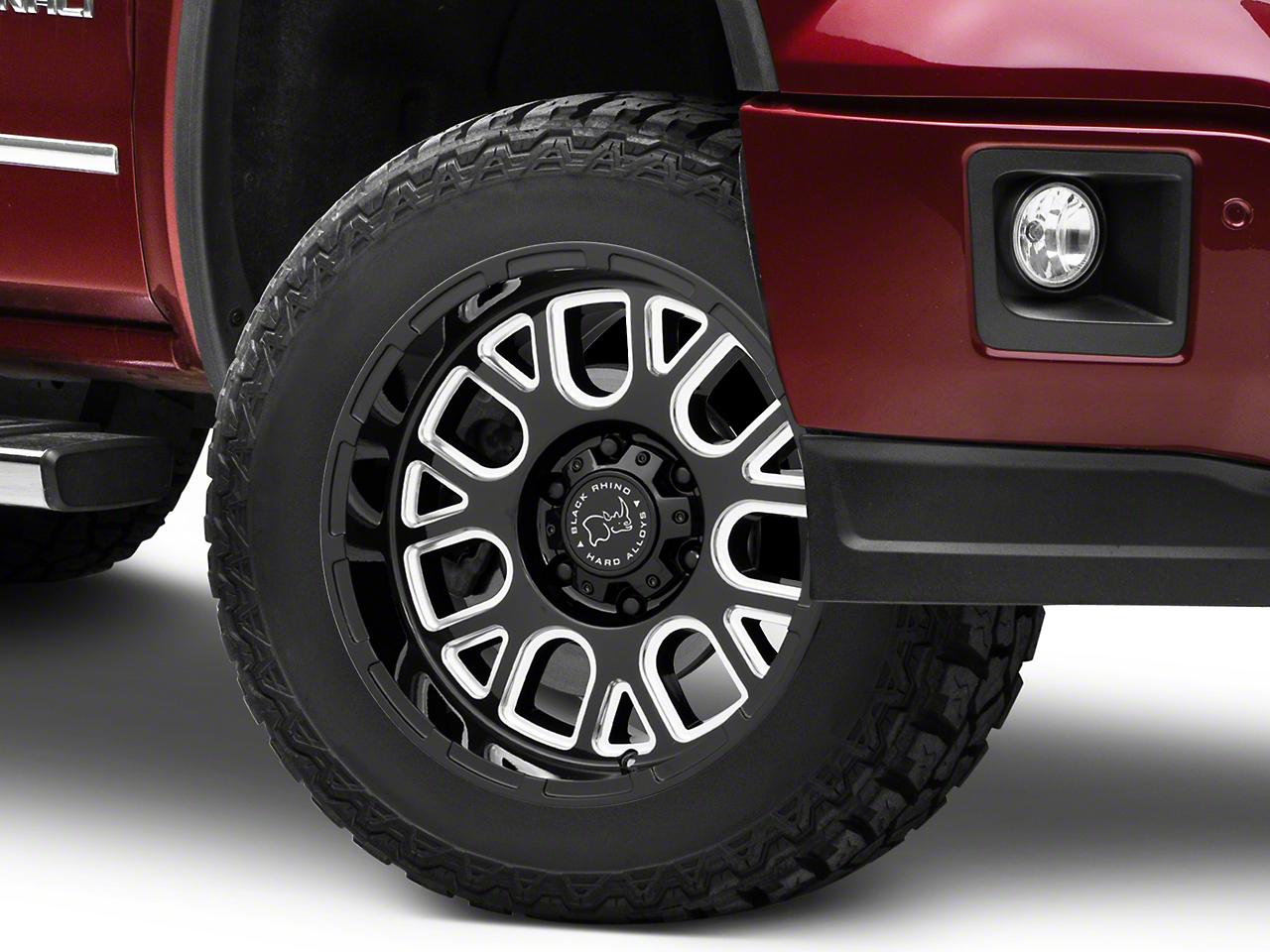 Black Rhino Pismo Gloss Black Milled 6-Lug Wheel - 20x12 (07-18 Sierra 1500)