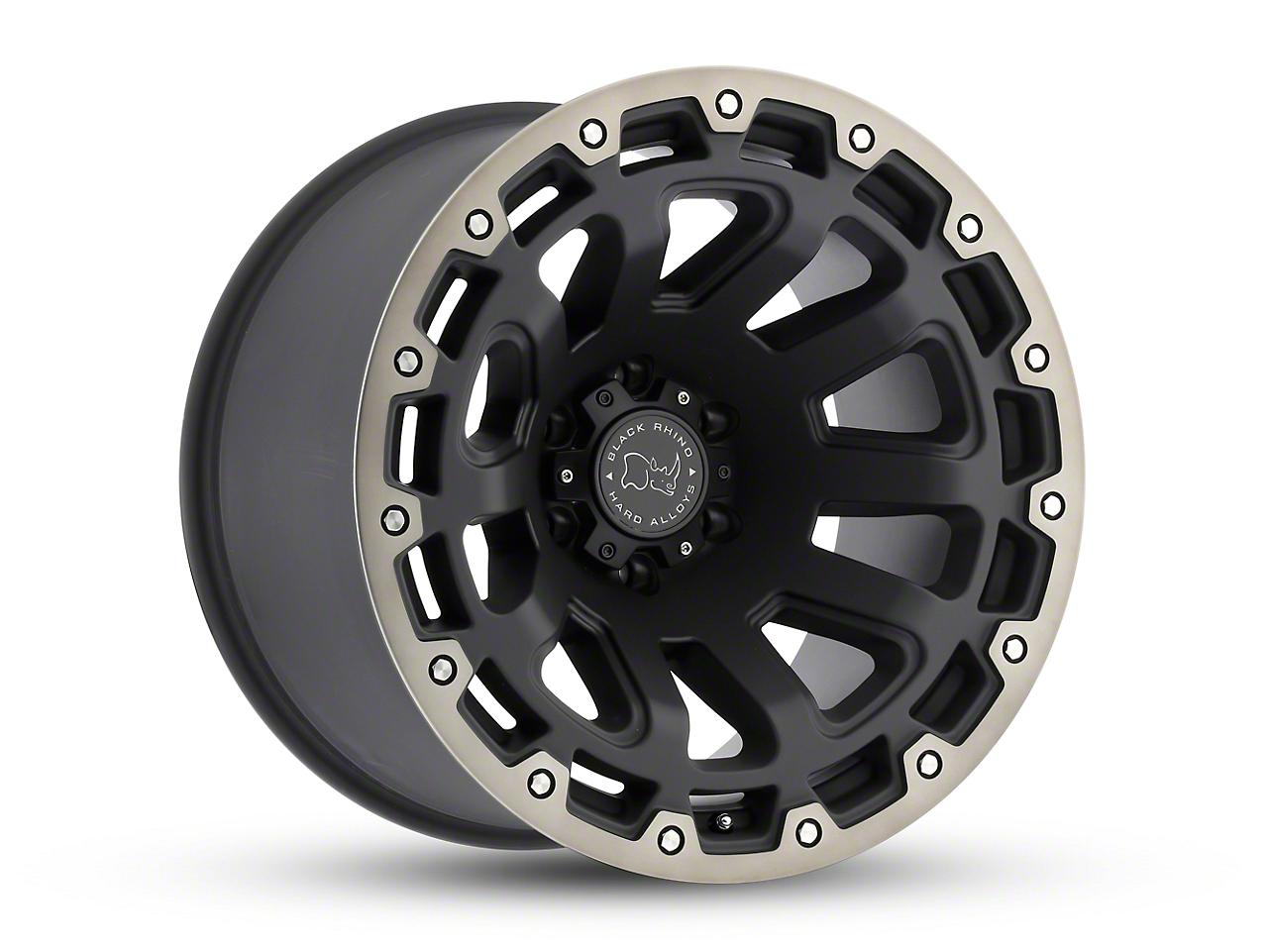 Black Rhino Razorback Matte Black Machined 6-Lug Wheel - 17x9 (07-18 Sierra 1500)