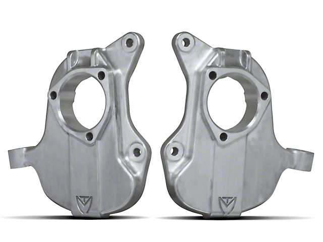 Max Trac 2 in. Forged Aluminum Lowering Spindles (14-18 2WD Sierra 1500 w/ Stamped Steel or Cast Aluminum Control Arms)