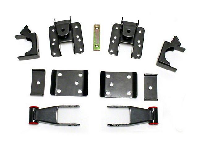 Max Trac Adjustable Rear Flip Lowering Kit - 3-4 in. (07-18 Sierra 1500)