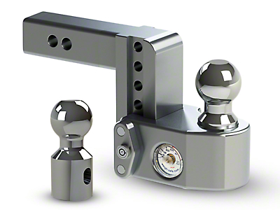 Weigh Safe 2 in. Receiver Hitch Adjustable Ball Mount w/ Built-In Scale - 4 in. Drop Hitch (07-18 Sierra 1500)