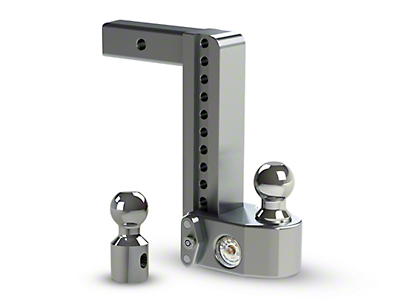 Weigh Safe 2 in. Receiver Hitch Adjustable Ball Mount w/ Built-In Scale - 10 in. Drop Hitch (07-18 Sierra 1500)