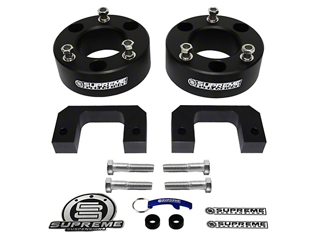 Supreme Suspensions 3.5 in. Pro Billet Front Lift Spacer Leveling Kit (07-18 Sierra 1500, Excluding 14-18 Denali)