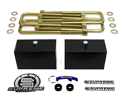 Supreme Suspensions 3 in. Pro Billet Rear Lift Blocks (07-18 Sierra 1500, Excluding 14-18 Denali)