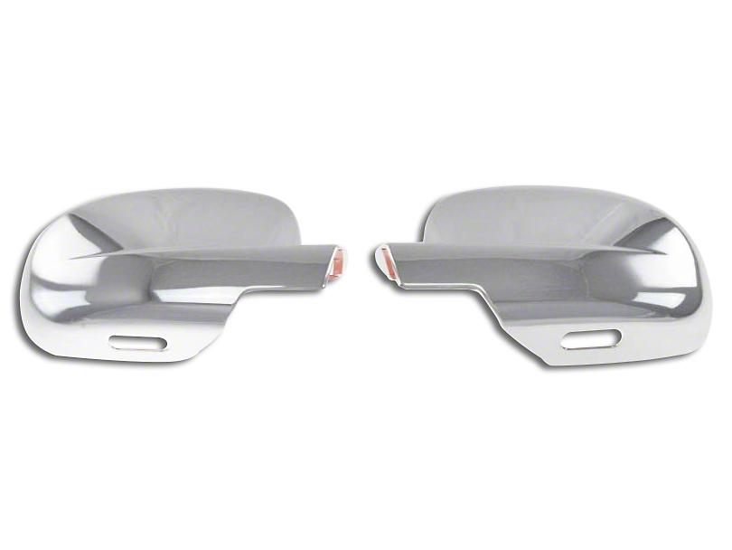 Full Mirror Covers; Chrome (07-13 Sierra 1500)