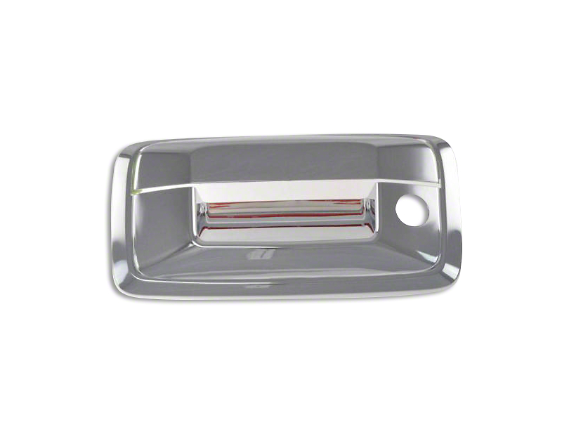 Black Horse Off Road Tailgate Handle Cover w/o Backup Camera Opening - Chrome (14-18 Sierra 1500)