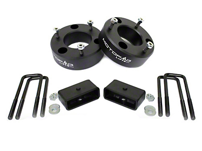 MotoFab 3 in. Front / 1 in. Rear Leveling Kit (07-18 Sierra 1500, Excluding 14-18 Denali)