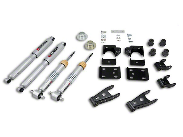 Belltech Lowering Kit with Street Performance Shocks; +1 to -2-Inch Front / 2 to -3-Inch Rear (07-13 Sierra 1500 w/ Short Box)