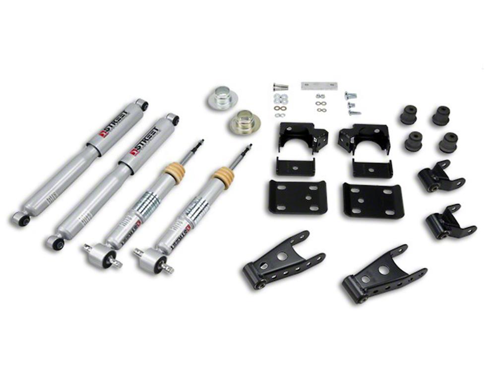 Belltech Lowering Kit w/ Street Performance Shocks - +1-2 in. Front / 2-3 in. Rear (07-13 Sierra 1500 w/ Short Box)