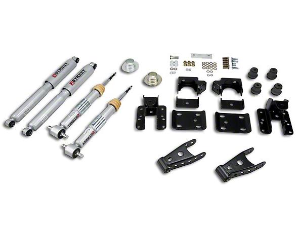 Belltech Lowering Kit w/ Street Performance Shocks - +1-2 in. Front / 4 in. Rear (07-13 Sierra 1500 w/ Short Box)