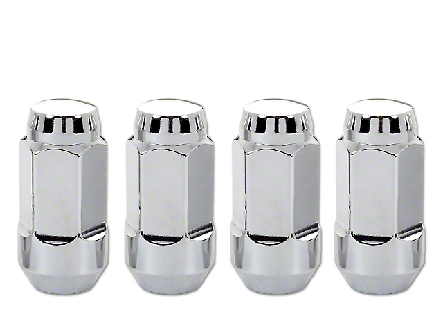 McGard Chrome Bulge Cone Seat Style Lug Nut Set - 14mm x 1.5 - Set of Four (07-20 Sierra 1500)