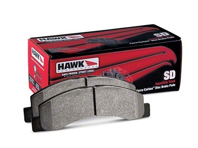 Hawk Performance SuperDuty Brake Pads - Rear Pair (07-15 Sierra 1500)
