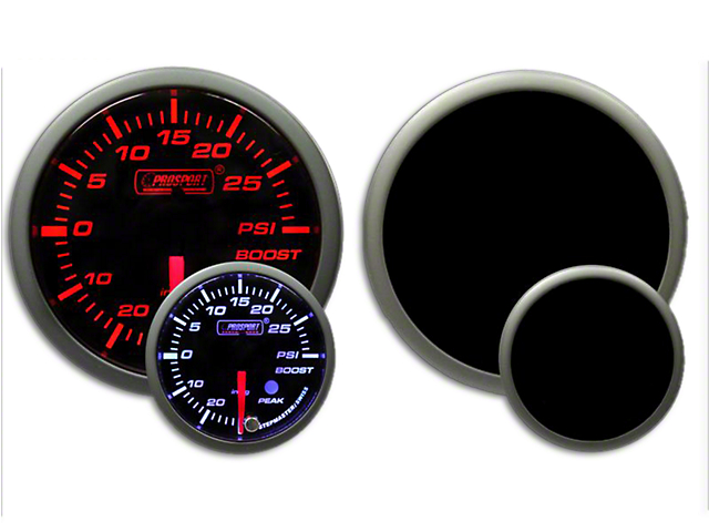 Prosport Dual Color Premium Boost Gauge - Electrical - Amber/White (07-19 Sierra 1500)