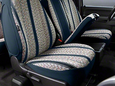 Fia Custom Fit Saddle Blanket Front Seat Cover - Navy (07-13 Sierra 1500 w/ Bench Seat)