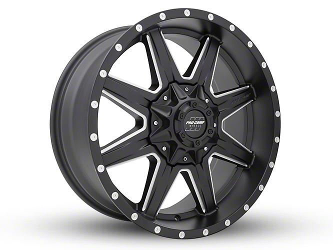 Pro Comp Quick 8 Satin Black Milled 6-Lug Wheel - 20x9 (07-18 Sierra 1500)